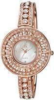 Adee Kaye Women's Quartz Brass Dress Watch, Color:Rose Gold-Toned (Model: AK9116-LRG)