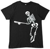 Micro Me Black Baseball Skeleton Tee - Infant Toddler & Boys