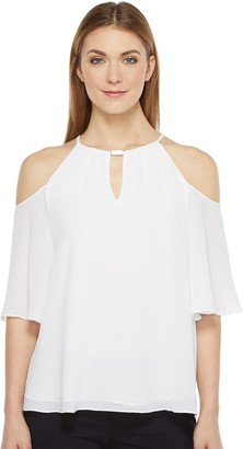 Ellen Tracy Women's Cold Shoulder Halter