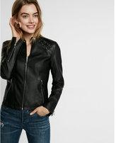 Express lace-up shoulder (Minus the) leather jacket