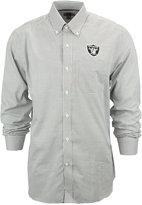 Cutter & Buck Men's Oakland Raiders Tattersall Dress Shirt