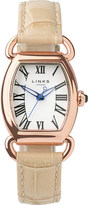 Links of London Driver Ellipse gold-plated leather watch