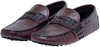 Tod's Brown Leather Gommino Loafers Size 41