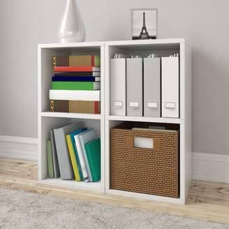 Ebern Designs Virginis Vinyl Record Cube Bookcase Ebern Designs Color: White