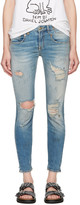 R 13 Blue Shredded Boy Skinny Jeans