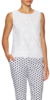 Diane von Furstenberg Edin Cotton Lace Hem Top