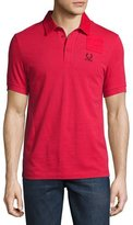 Fred Perry x Raf Simons Denim Pocket Polo Shirt, Red