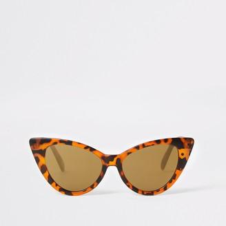 River Island Girls Brown tortoiseshell cateye sunglasses