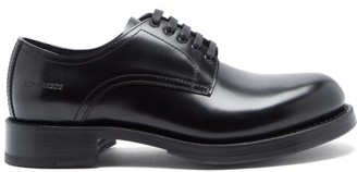 DSQUARED2 Police Logo-embossed Leather Derby Shoes - Black