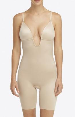 Show Me Your Mumu SPANX Suit Your Fancy Plunge Low-Back Mid-Thigh Bodysuit