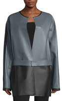 CNC Costume National Colorblock Leather Jacket, Gray