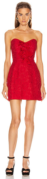 BROGNANO Floral Mini Dress in Red
