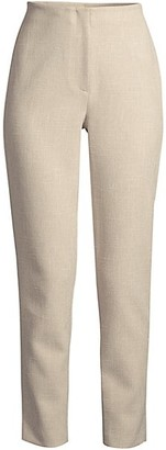 Donna Karan Straight-Leg Tweed Ankle Pants