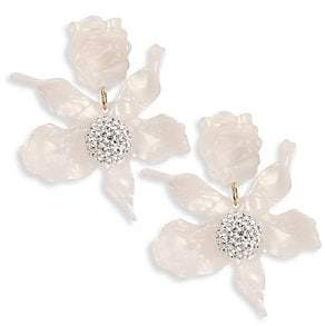 Lele Sadoughi Women's Crystal Lily Clip-On Earrings