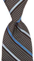 Hart Schaffner Marx Circle Ground Stripe Traditional Tie