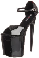 Pleaser USA Women's Flamingo-860FH/BR/B Platform Sandal with Buckle Strap