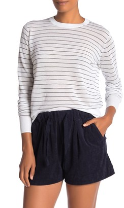 Vince Striped Textured Sweater
