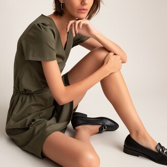 La Redoute Collections Cotton Mini Dress with Short Sleeves