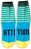 LittleMissMatched Blue & Yellow 'Attitude' Socks