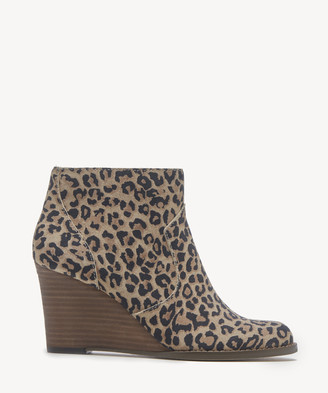 Sole Society Women's Patsy Wedges Bootie Brown Multi Size 5 Suede From