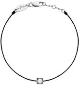 Redline Cube Femme Diamond Black String Bracelet - White Gold