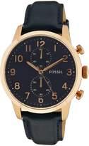 Fossil Men's Townsman FS4933 Leather Quartz Watch