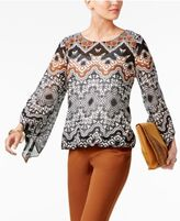 Alfani Angel-Sleeve Blouson Top, Created for Macy's