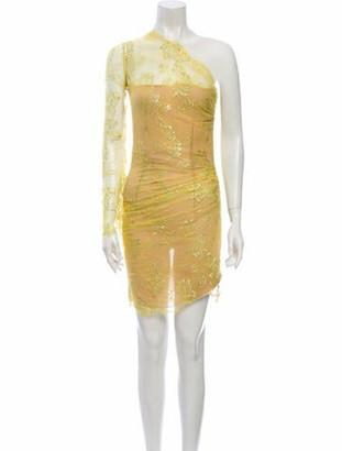 Emilio Pucci One-Shoulder Mini Dress Yellow