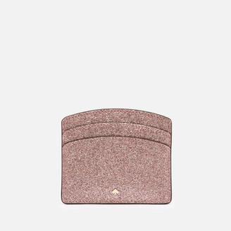 Kate Spade Women's Spencer Glitter Card Holder - Rose Gold