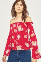 Pins & Needles Floral Smocked Off-The-Shoulder Button-Through Top