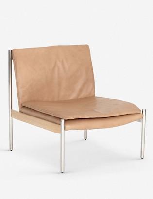 Lulu & Georgia Ronella Leather Accent Chair, Sahara Tan