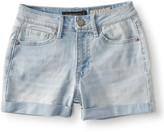 Seriously Stretchy High-Waisted Light Wash Denim Midi Shorts