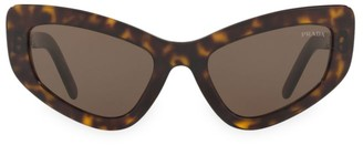 Prada Catwalk 55MM Extreme Cat Eye Sunglasses