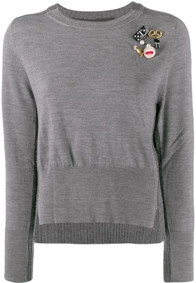 Marc Jacobs embellished long-sleeve sweater