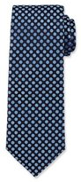 HUGO BOSS Woven Dot Silk Tie, Navy