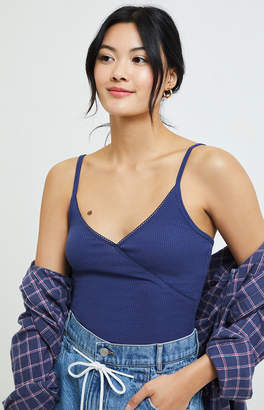 Proenza Schouler Basics By Pacsun Basics by Pacsun Waffle Knit Surplice Tank Top