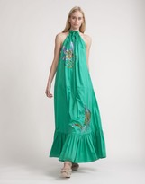 Cynthia Rowley Jade Halter Maxi Dress