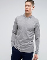 Jack and Jones Long Sleeve Polo in Texture