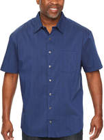 Van Heusen Flex Non Iron Woven Short Sleeve Button-Front Shirt-Big and Tall