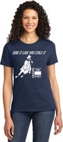 Charlie Horse Apparel Ride It Like You Stole It Barrel Racing Ladies Navy T-Shirt