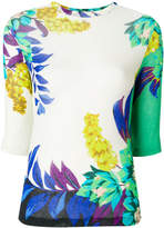 Etro floral print knitted top