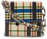 Marni Cady bergman tartan-print leather cross-body bag