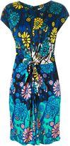 Issa floral print knot dress