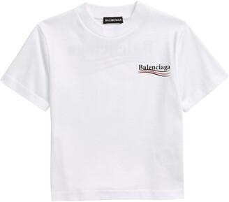 Balenciaga Logo Graphic Cotton Tee