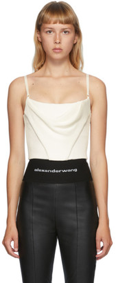 Alexander Wang Off-White Draped Corset Tank Top