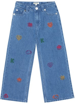 Kenzo Kids Embroidered jeans