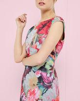 QUAIS Floral Swirl tunic dress