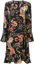 Etro animals print longsleeved dress - women - Silk - 42