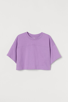 H&M Cropped Sports Top