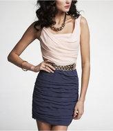 Express Chiffon Rouched Sleeveless Dress